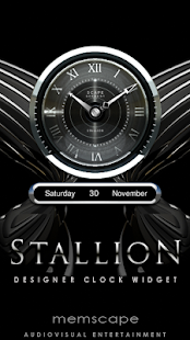 STALLION Designer Clock Widget