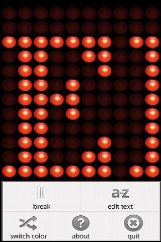 LEDroid free - LED ticker - screenshot