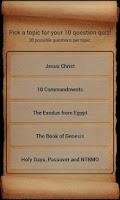Screenshot of Bible Trivia