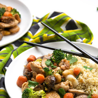 {Lighter} PF Changs Cashew Chicken with Coconut Quinoa