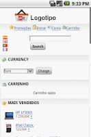 Screenshot of ptCommerce mobile