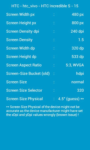 Screen Specs