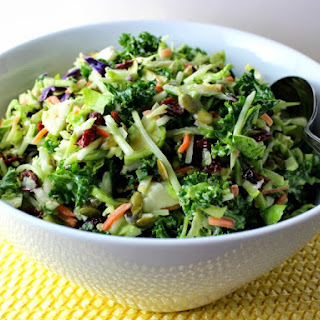 Broccoli, Kale, and Brussels Sprouts Slaw.