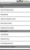 Screenshot of Pro Cheats: GTA 4 (Unofficial)