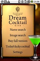 Screenshot of DreamCocktail Lite