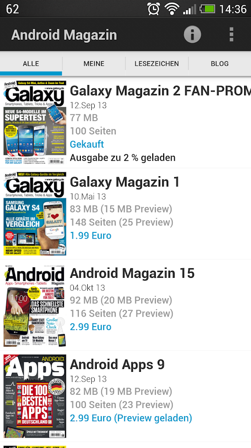 Android Magazin - screenshot