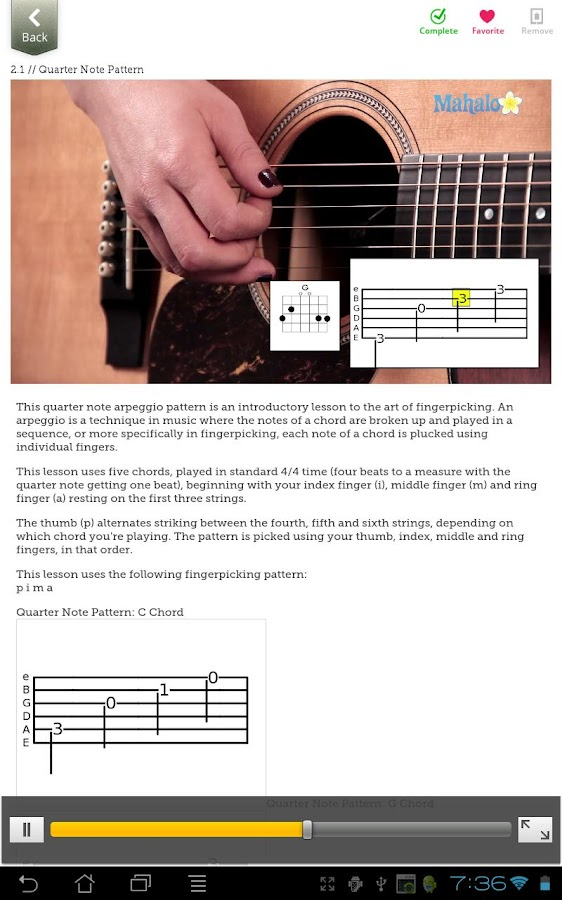Learn Fingerpicking- screenshot