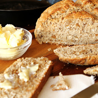 Irish Walnut Oatmeal Soda Bread