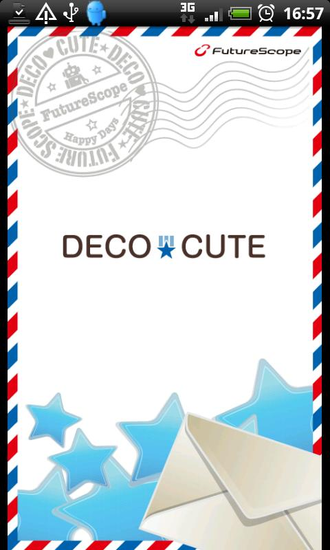 Blue Theme for DECO CUTE - screenshot