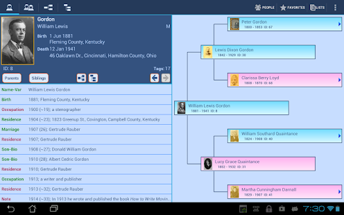 GedStar Pro Genealogy Viewer - screenshot thumbnail