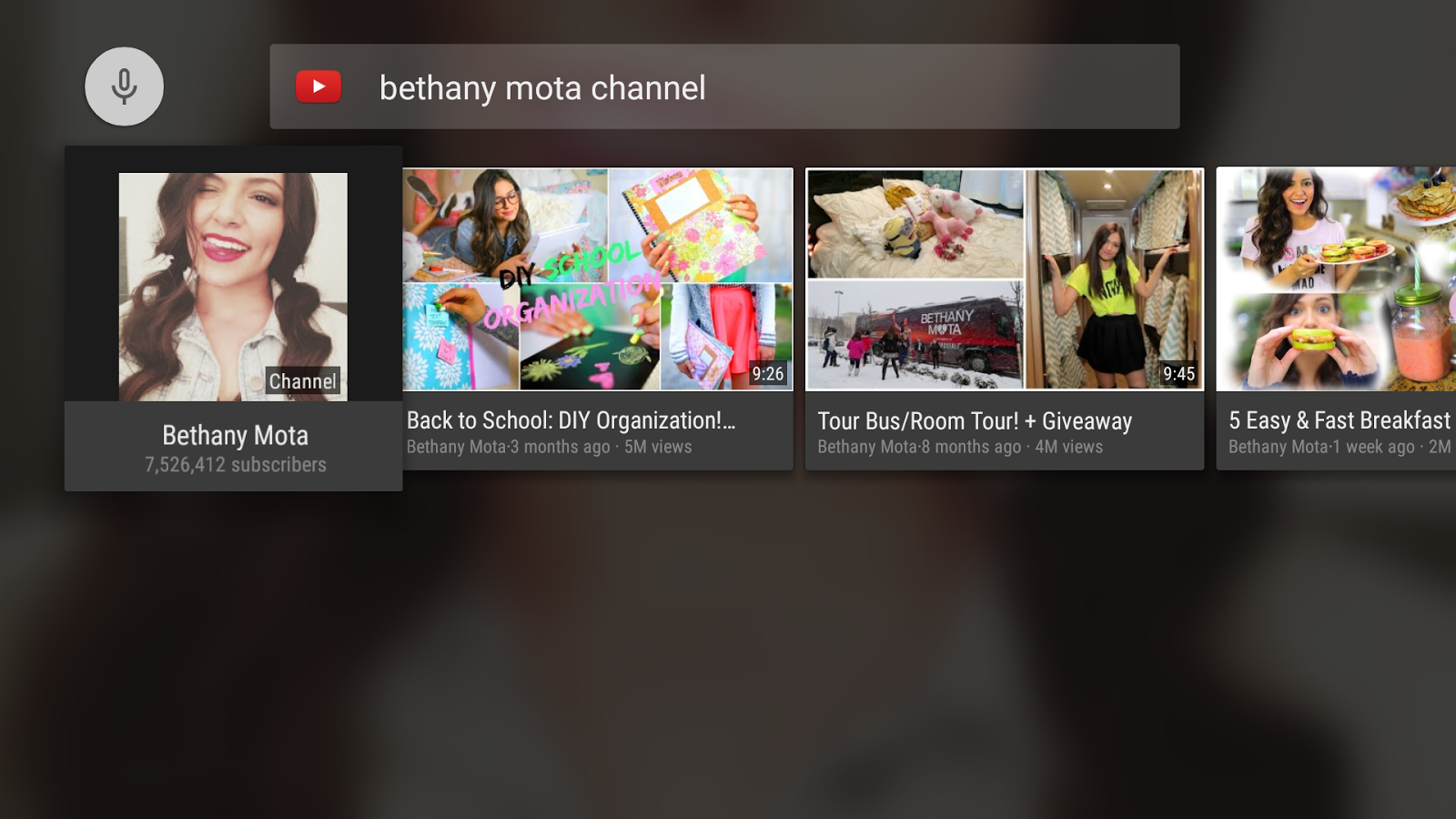 Screenshots of YouTube for Android TV for Android
