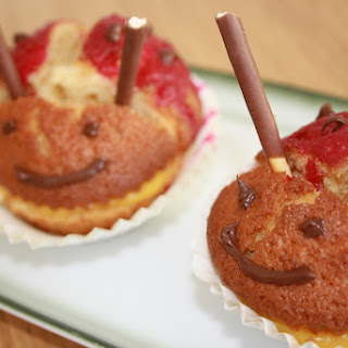 Ladybug Muffins.