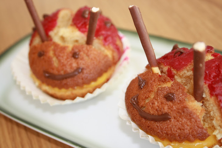 Ladybug Muffins