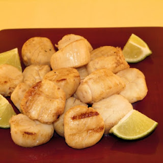 Grilled Marinated Scallops.