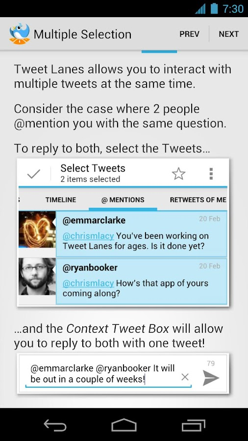 Tweet Lanes - Twitter/App.net - screenshot