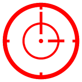 Analog Reticle Target Clock