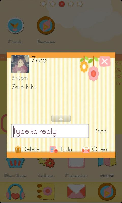 ZCute GO SMS Theme - screenshot