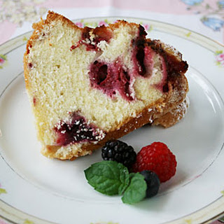 Bursting with Berries Bundt Cake