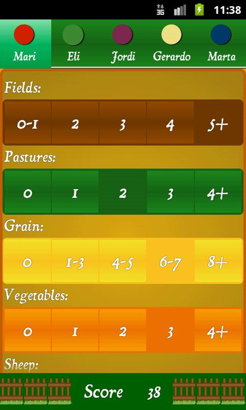 Agricola Score Calculator - screenshot