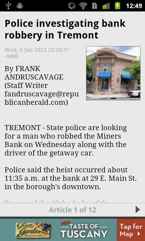 Pottsville PA RepublicanHerald - screenshot