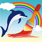 Coloring Book Water Animals icon