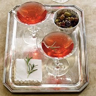 Pomegranate-Rosemary Royale.