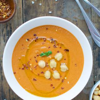 Creamy Tomato Chickpea Soup.