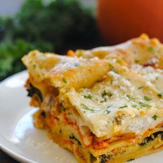 Pumpkin & Kale Lasagna
