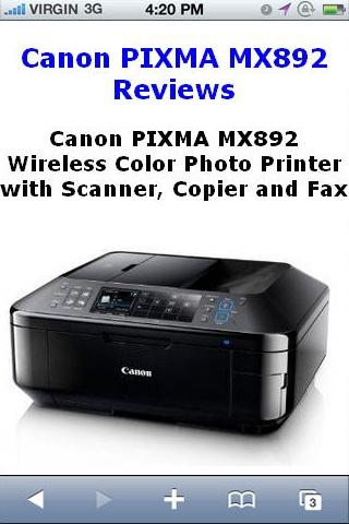 PIXMA MX892 Printer Reviews