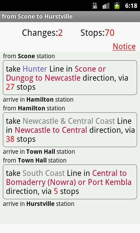Sydney CityRail - screenshot
