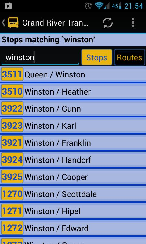 Grand River Transit - screenshot