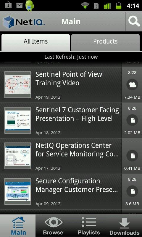 NetIQ in Hand- screenshot