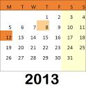 Holiday Calendar 2013 icon