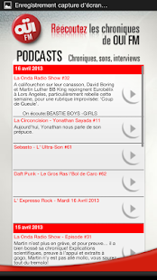 OUIFM  - Le Rock a sa Radio - screenshot thumbnail