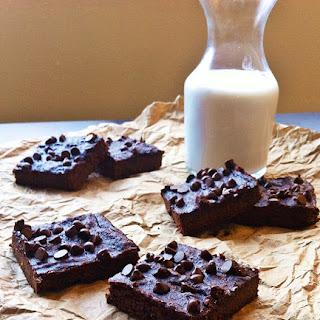 Intensely Chocolate Sweet Potato Brownies (grain, gluten, dairy-free).