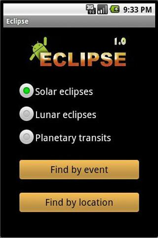 Eclipse Calculator - screenshot