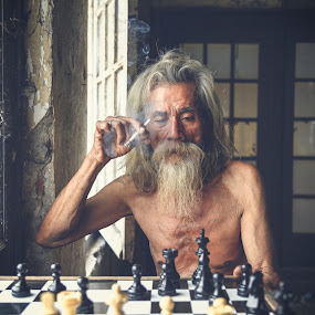 Next Moved by Andi Kurniadi - People Portraits of Men ( chess, old man, people, portrait )