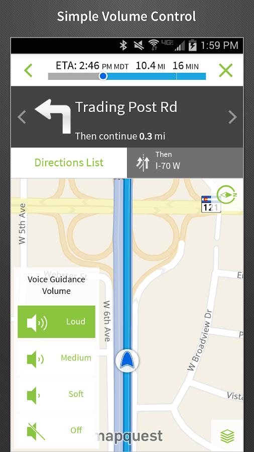 MapQuest GPS Navigation & Maps - screenshot