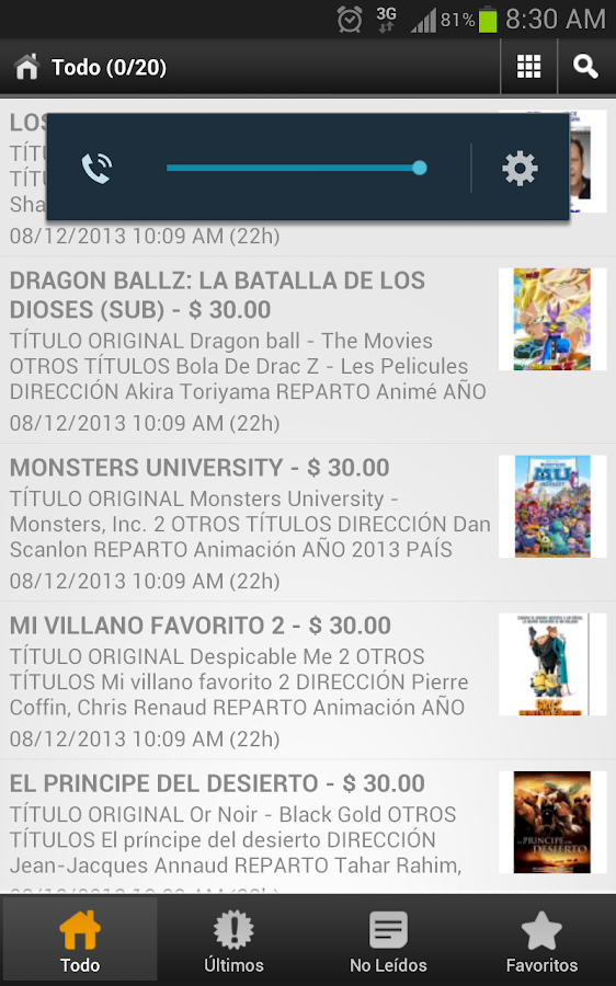 ESTRENOS CINE EN DVD- screenshot
