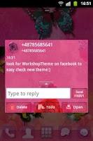 Screenshot of GO SMS Theme Pink Rose Cute