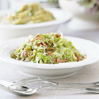 Sautéed Green Cabbage with Country Ham.
