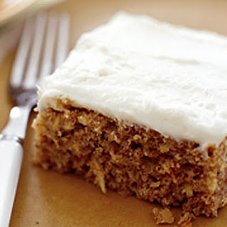 Parsnip Spice Cake with Ginger Cream Cheese Frosting.