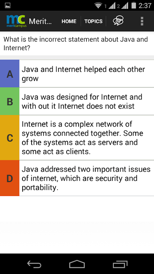 Learn Java Online Merit Campus- screenshot
