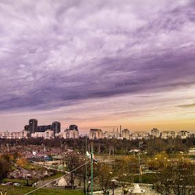 Colors upon the skies by Matei Edu - City,  Street & Park  City Parks ( skyline, bucharest, sky, park, colors, romania, cityscape )
