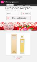 Screenshot of Perfumes online