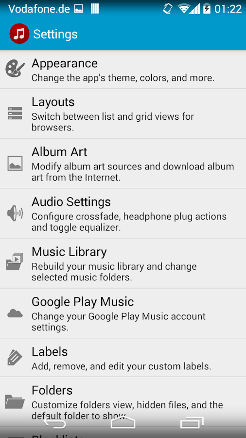 Jams Music Player- screenshot