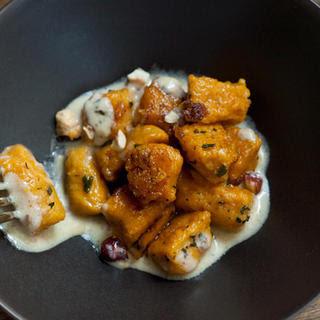 Pumpkin Gnocchi with Crème Fraîche–Sage Sauce