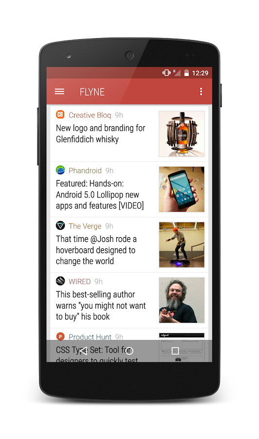 Flyne. The Offline Reader.- screenshot