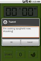 Screenshot of Music Kitchen Timer