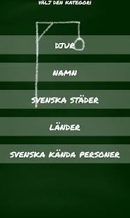 Hänga Gubbe Spelet (Svenska)- screenshot thumbnail